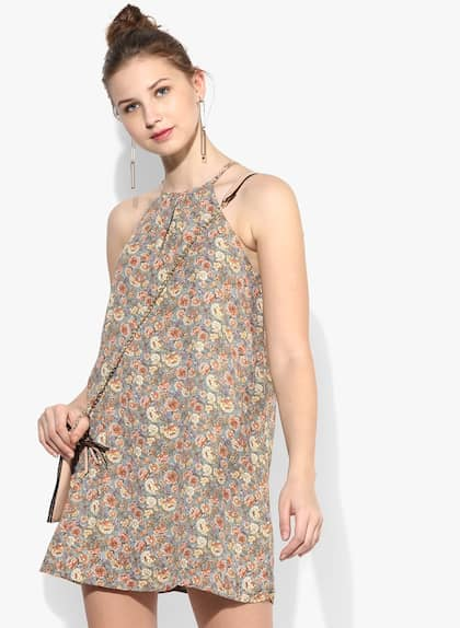 2ef5787895a FOREVER 21. Multicoloured Coloured Printed Shift Dress