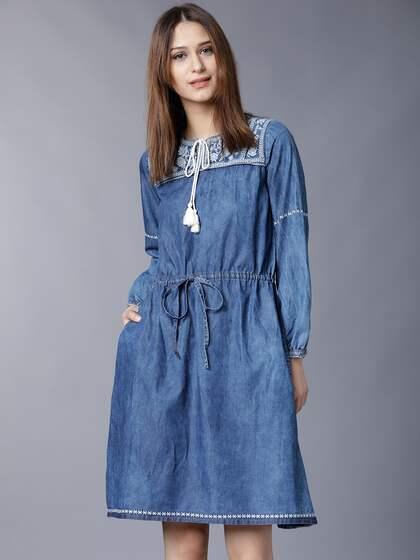 19635599cab0 Denim Dresses - Buy Denim Dresses Online in India