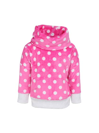 cf7d2b647f4b Pattern. + 2 more. CUTECUMBER Girls Pink   White Solid Pullover