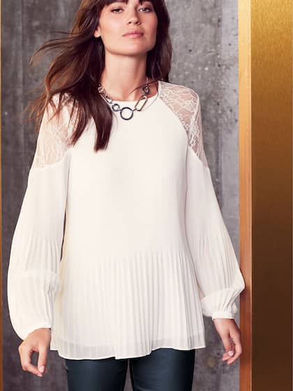 f10b47d4a4aa60 Lace Tops - Buy Lace Tops for Women   Girls Online in India