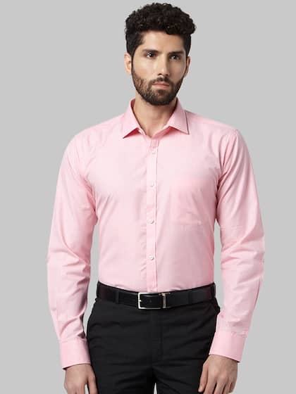 Park Avenue Men Pink Slim Fit Solid Formal Shirt