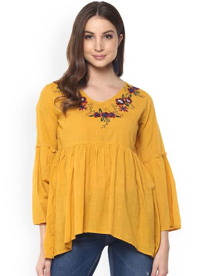 0a9a924b029180 Yellow Tops - Buy Yellow Tops Online in India