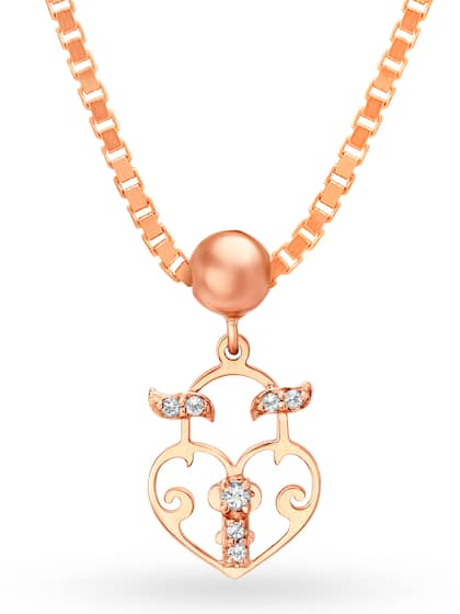Mia by Tanishq 14KT Rose Gold Charm with Topaz