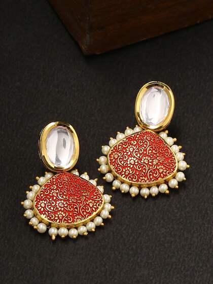e0b41464f33 Green long drop earrings boho chic earrings golden flower jewels