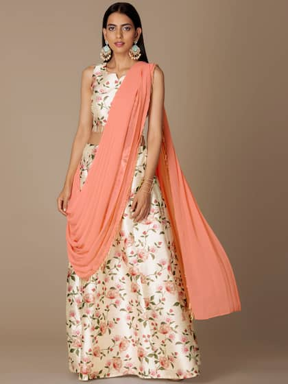 39c59ca3a1 INDYA. Skirt with Attached Dupatta
