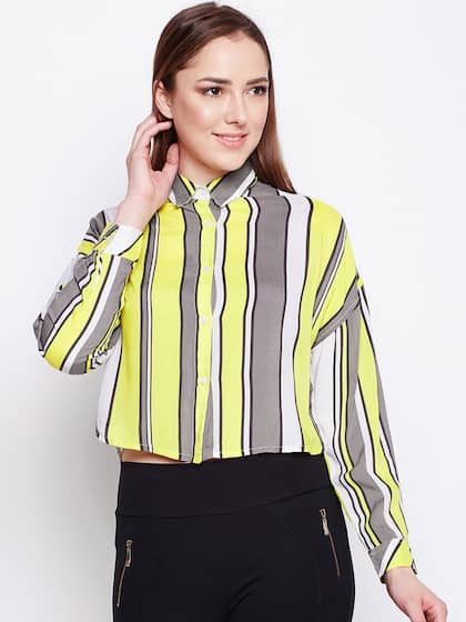 1af936bc63d246 Oxolloxo. Women Casual Crop Shirt