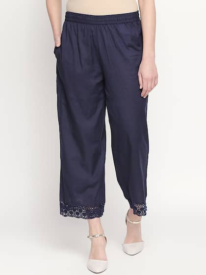 25cd1afc9ac RANGMANCH BY PANTALOONS. Women Straight Solid Palazzos
