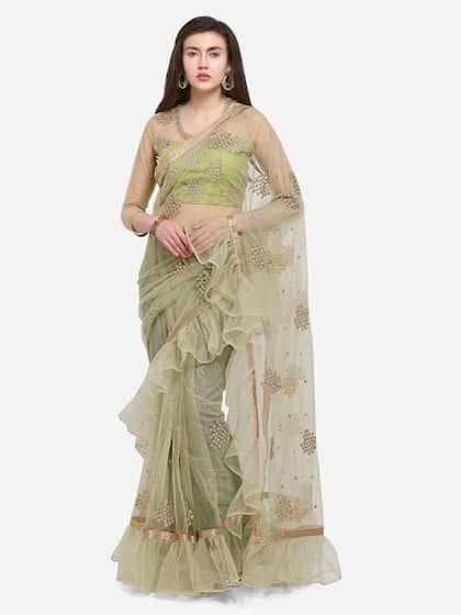 5d68cfb76d Net Sarees - Buy Stylish Net Saree in India Online - Myntra