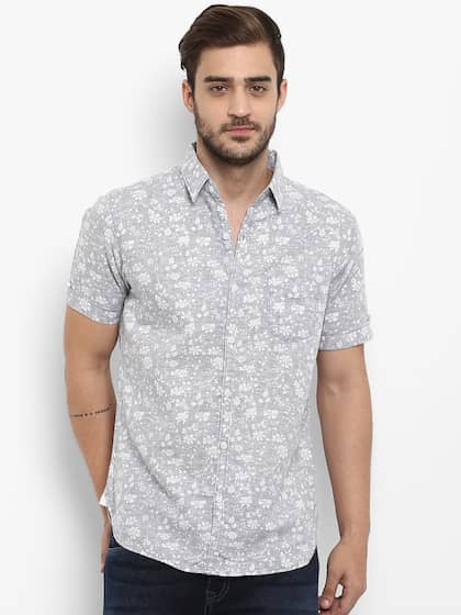 23ddbfd7859 Short Sleeve Shirts - Buy Short Sleeve Shirts Online in India