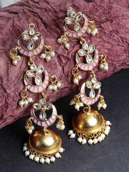 9c4f243dc6 Jhumkas - Buy Jhumka Earrings Online in India | Myntra
