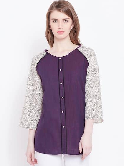 591d7758e17 Purple Tops - Buy Purple Tops Online in India