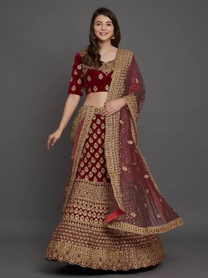 8d16bd70cb Velvet Lehenga Choli - Buy Velvet Lehenga Choli Online | Myntra