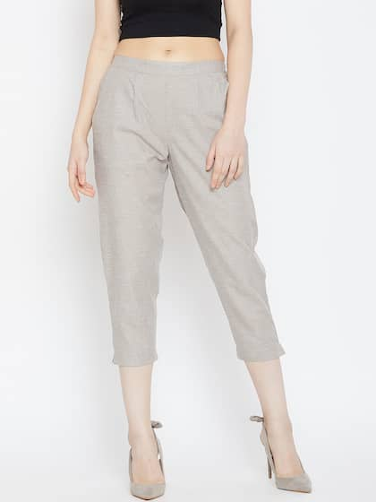 d8b29d00dd2 Bitterlime. Women Regular Fit Cigarette Trousers