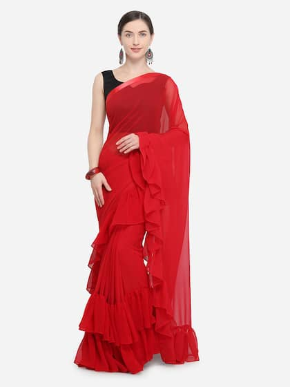 2dd96e4173c Red Saree - Buy Red Color Fashion Sarees Online