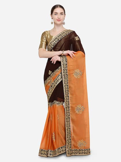 e07c713dd42d50 Embroidered Sarees - Buy Designer Embroidery Saree Online