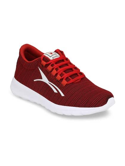 HIROLAS Men Red Running Shoes