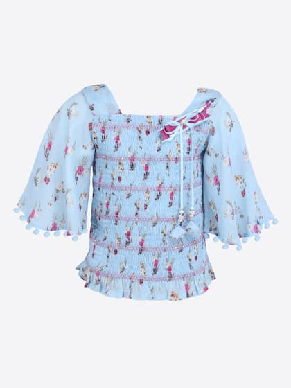 b07db7b2b1e9 Girls Tops - Buy Stylish Top for Girls Online in India