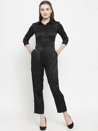7761359f1f5 Black Jumpsuit - Buy Black Jumpsuit Online in India