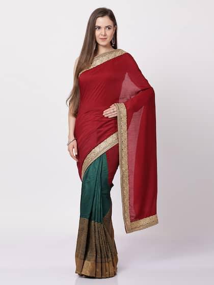 cd0382e7b2fd8 Maroon Saree - Buy Maroon Sarees Online in India