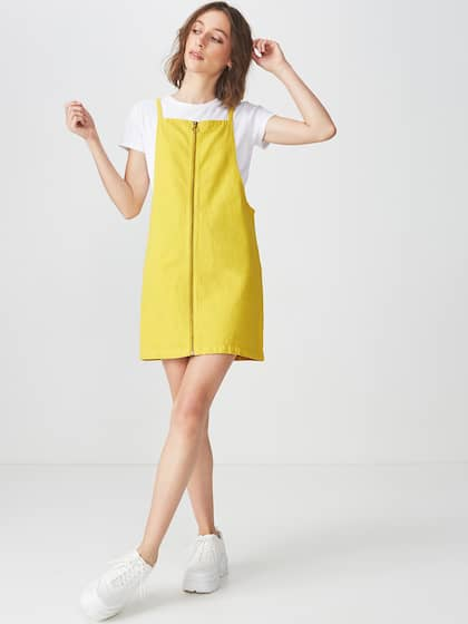 4f9bfb487e8 Women Pinafore Dresses - Buy Women Pinafore Dresses online in India