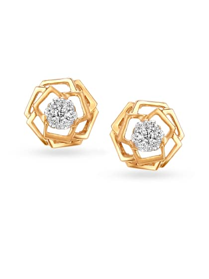 beed66e8d Diamond Earrings - Buy Diamond Earrings Online at Best Price | Myntra