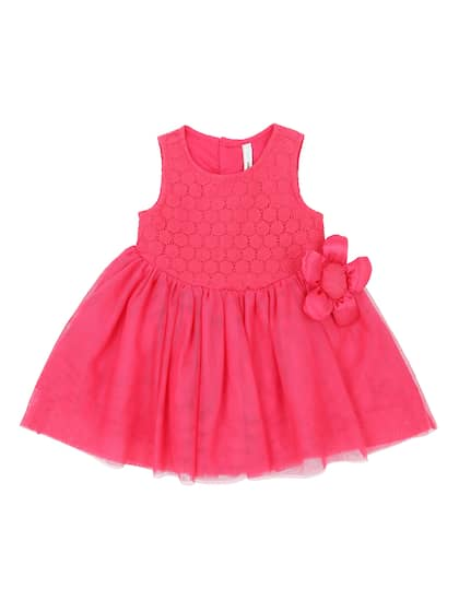 ade1281c5bea Pantaloons Baby. Girls Self Design Fit and Flare Dress
