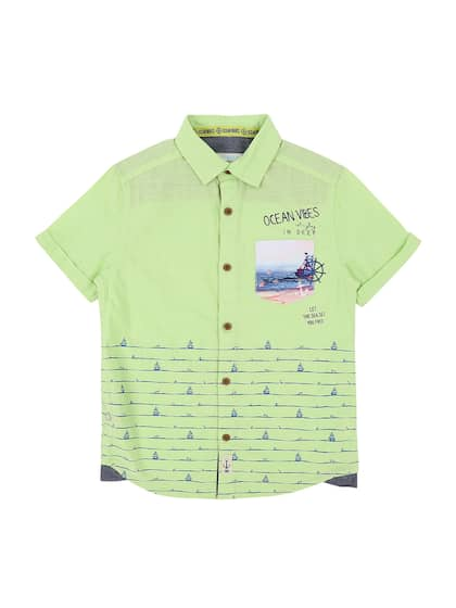 d7643ad93cd Lime Green Shirts - Buy Lime Green Shirts Online in India