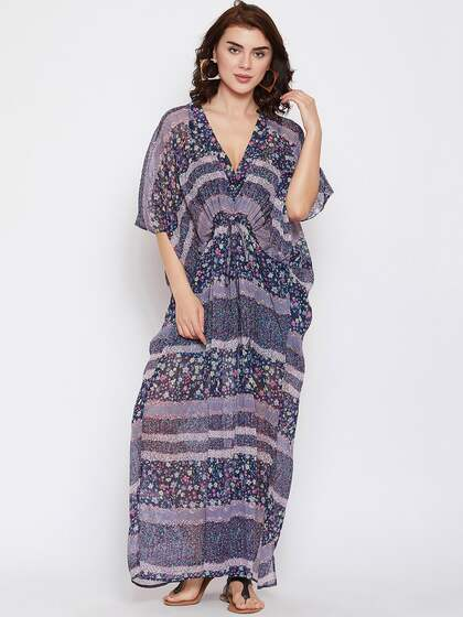 43e07ab78742b The Kaftan Company. Printed Cover-Up Dress. Sizes: Onesize