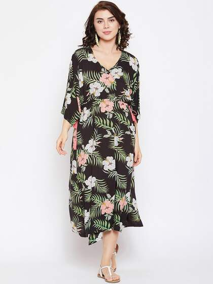 38316318919 The Kaftan Company. Printed Cover-Up Dress. Sizes: ...