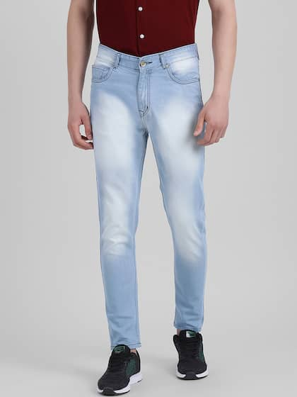 REALM Men Blue Super Skinny Fit Mid-Rise Clean Look Jeans