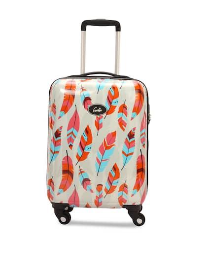 4a9b04a1d Genie Girls Multicoloured Printed Hard-Sided Medium Trolley Bag