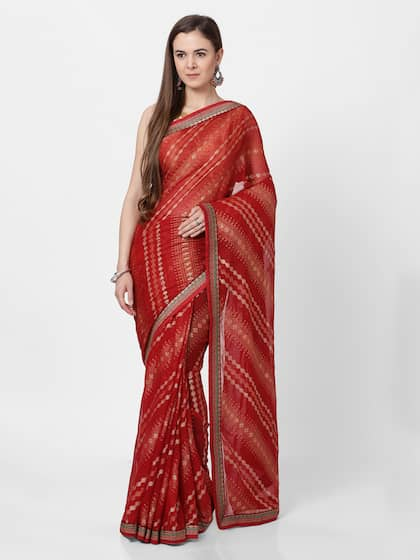 95b9cfa2d0 Red Saree - Buy Red Color Fashion Sarees Online   Myntra