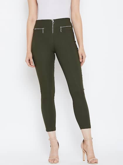 e2f3a5a9df6a6d Olive Jeggings - Buy Olive Jeggings online in India