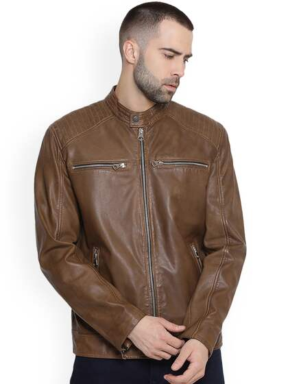 dcd8094f0 Leather Jackets - Buy Leather Jacket Online in India | Myntra