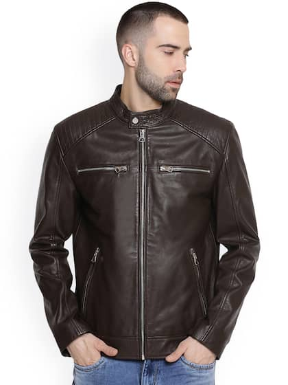 79bc41ace Leather Jackets - Buy Leather Jacket Online in India   Myntra