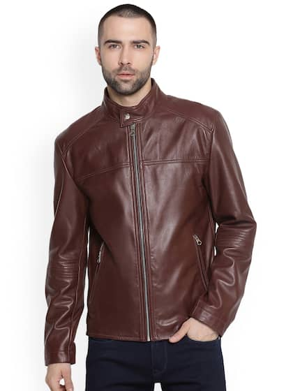 976015ff663b Leather Jackets - Buy Leather Jacket Online in India   Myntra