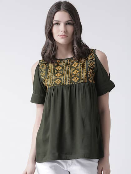 15e2c6cca9a494 The The Vanca Peach Tops - Buy The The Vanca Peach Tops online in India
