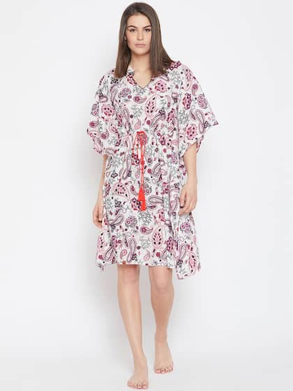 ad93719023 The Kaftan Company. Women Printed Nightdress