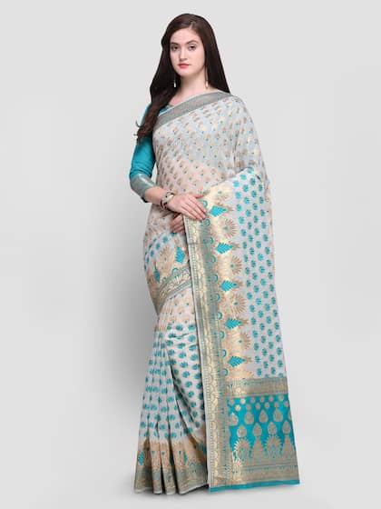 6ca87185a8 Floral Sarees - Buy Floral Print Saree Online at Best Price