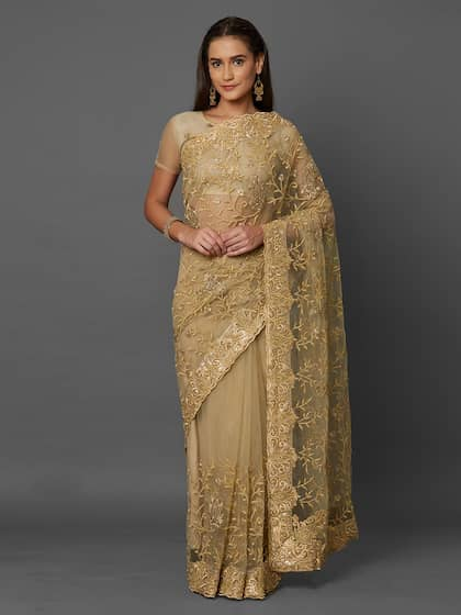 75d2643a54 Net Sarees - Buy Stylish Net Saree in India Online - Myntra