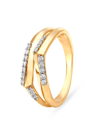 Mia by Tanishq Women 14KT Yellow Gold Finger Ring with Diamonds
