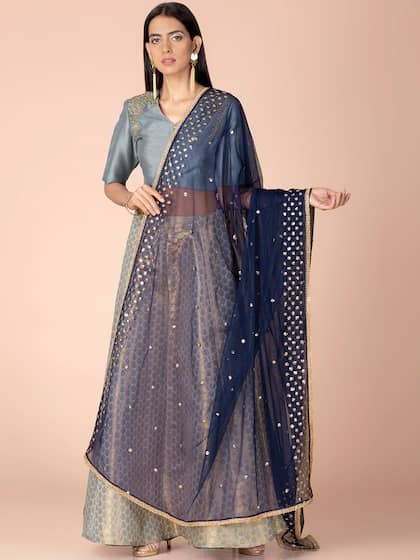 10a42f9c44 Blue Dupatta - Buy Blue Dupatta online in India