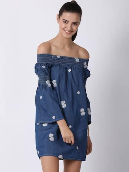 2dac381b9360c Off Shoulder Dress - Buy Off Shoulder Dresses Online | Myntra