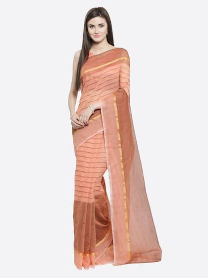 2725e2f1641c25 Peach Saree - Buy Peach Color Sarees online | Myntra