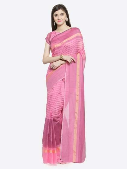 445c417719 Pink Saree   Buy Pink Color Sarees Online   Myntra