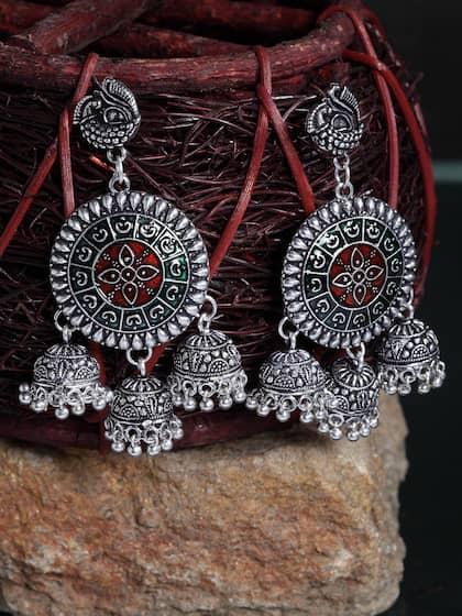 e7b8ec3fa German Silver Earrings - Buy German Silver Earrings online in India