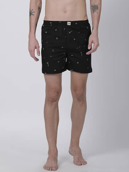 Urban Dog Men Black Printed Boxers UDBX134