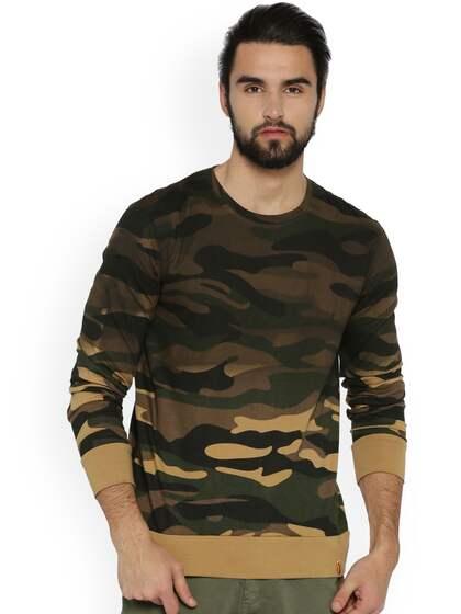 15ec522c23 Military Tshirts - Buy Military Tshirt Online in India   Myntra