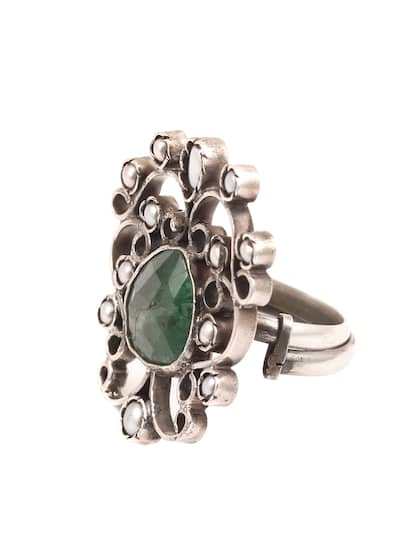 46aac0fdcc38a0 Mugs Stone Ring Earrings - Buy Mugs Stone Ring Earrings online in India