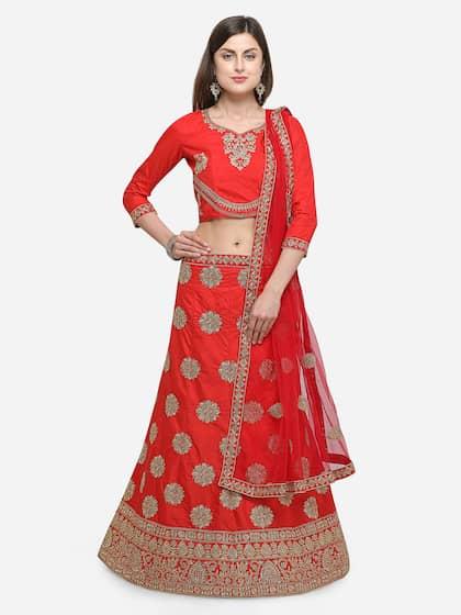 24da9b13a27 Silk Lehenga - Shop for Silk Lehenga Choli Online | Myntra